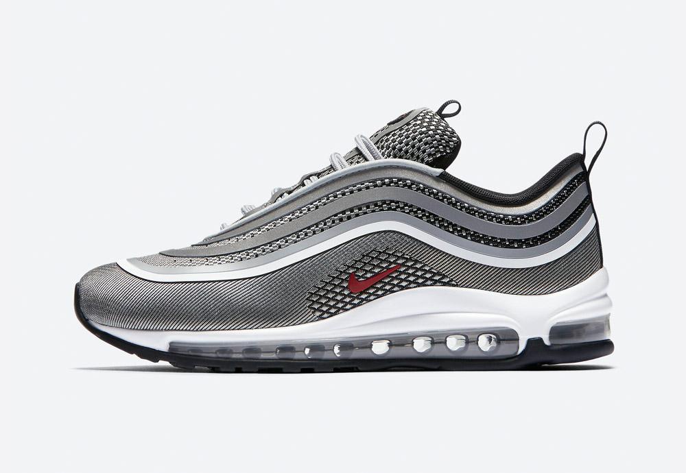 Nike Air Max 97 Ultra '17 — boty — tenisky — sneakers — dámské — stříbrné, metalické