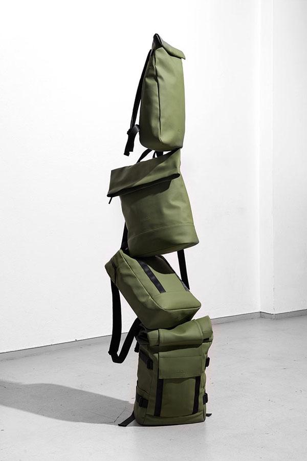 Ucon Acrobatics — olivově zelené batohy — pogumované, nepromokavé — série Lotus