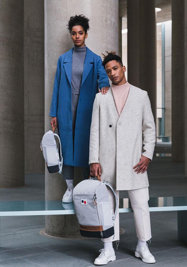 Pinqponq — Cubik Backpacks — batohy — šedé (grey) — recyklované z PET — sustainable