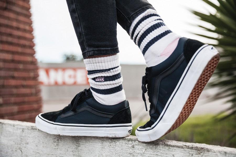 Vans Boom Boom Collection — dámské boty — Old Skool — modré — tenisky — sneakers
