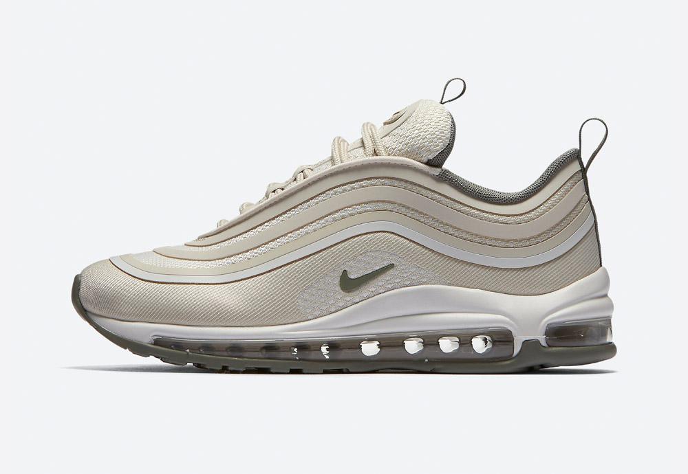 Nike Air Max 97 Ultra '17 — boty — tenisky — sneakers — dámské — krémová, světle hnědá