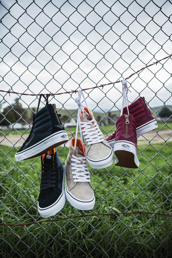Vans Boom Boom Collection — dámské boty — Old Skool — modré, béžové, vínové — tenisky — sneakers