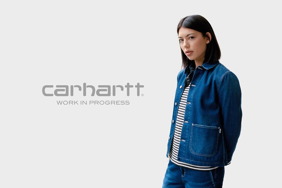 Carhartt WIP — dámská jeans bunda — džínová bunda — modrá — denim — podzim/zima 2017