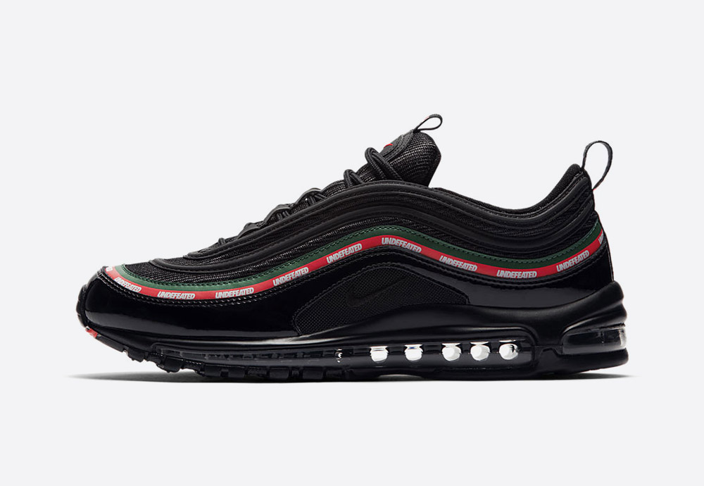 Nike Air Max 97 x Undefeated — černé boty — tenisky — sneakers