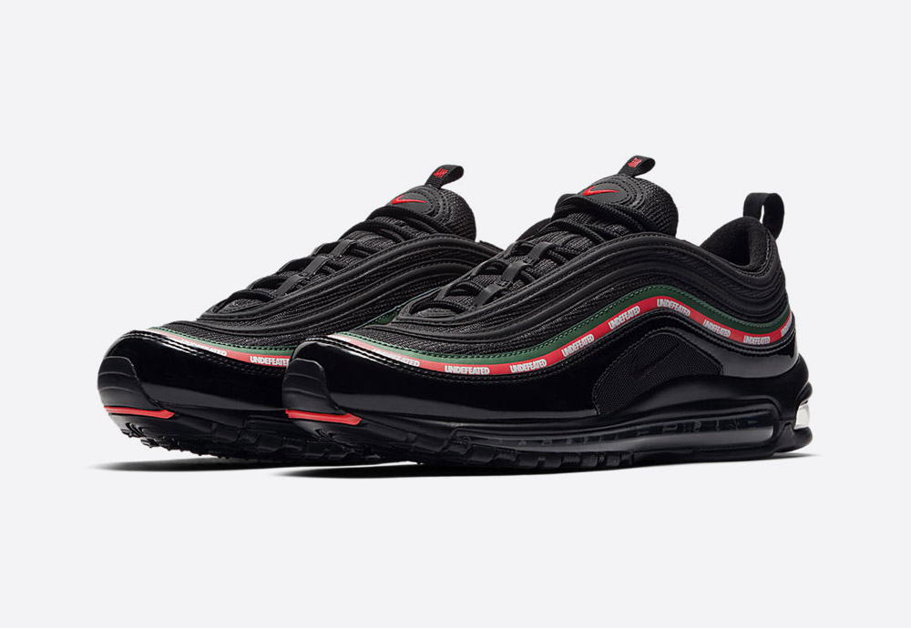 Nike Air Max 97 x Undefeated — černé tenisky — boty — sneakers