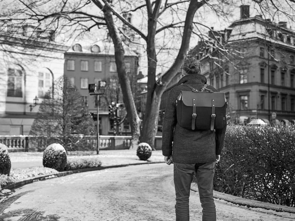 Enter — Brief — černá aktovka — městský batoh