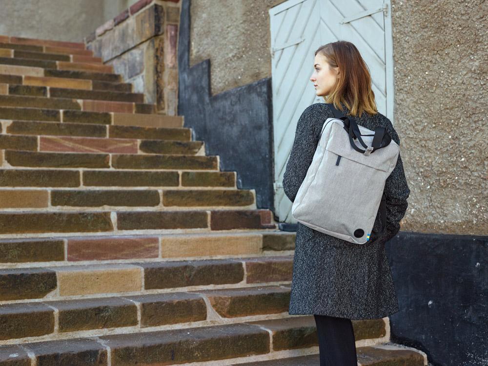 Enter — Tote Backpack — šedý městský batoh