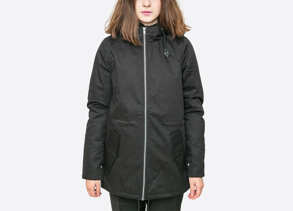 Wemoto — Ella — dámská zimní bunda s kapucí s kožíškem — parka — černá — black winter hooded women's jacket — podzim/zima 2017