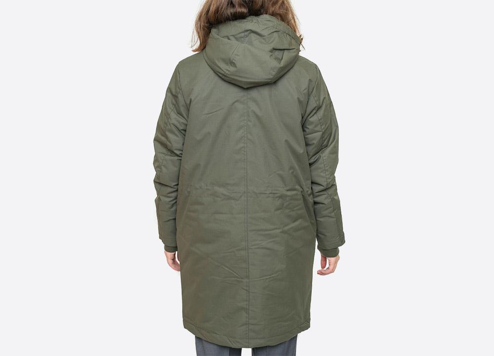 Wemoto — Darbey — dlouhá dámská zimní bunda s kapucí — parka — zelená olivová — olive green winter women's hooded jacket — podzim/zima 2017