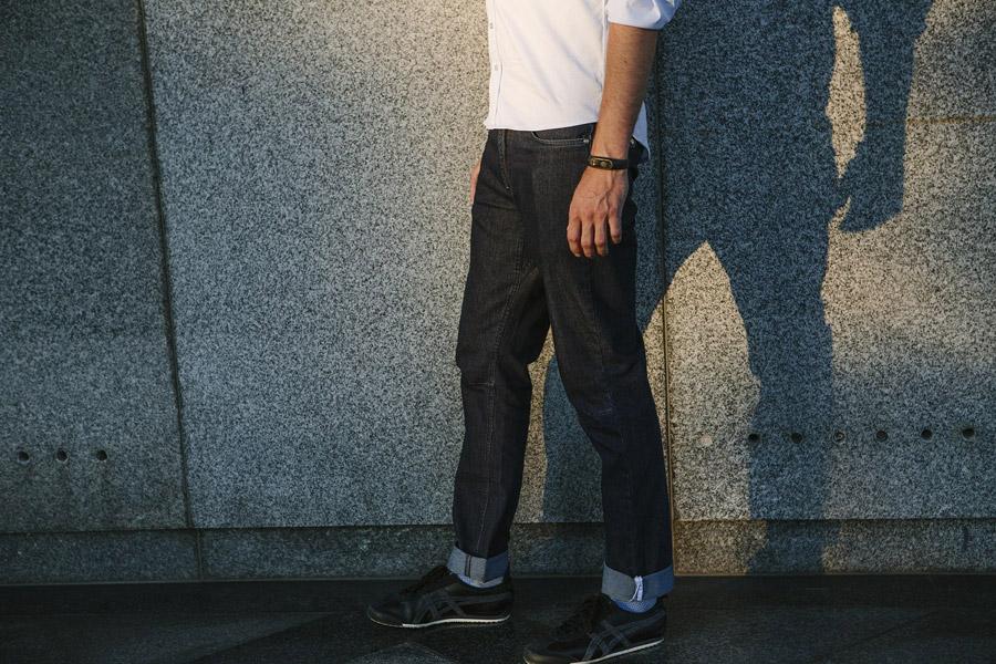 Isadore Apparel — pánské cyklistické kalhoty — modré jeansy (džíny) — oblečení pro městskou cyklistiku — urban cycling apparel — jeans