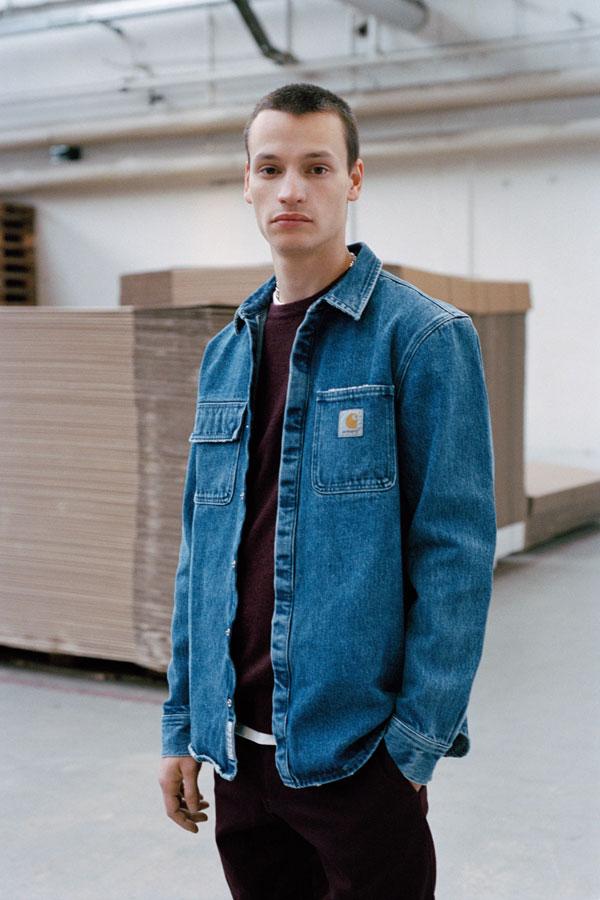 Carhartt WIP džínová bunda — modrá — panská — jeans jacket — podzim/zima 2017