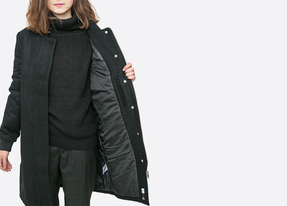 Wemoto — New Megan — dámský zimní kabát — černý — black winter women's coat — podzim/zima 2017