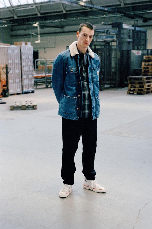 Carhartt WIP zateplená džínová bunda — modrá — panská — jeans jacket — podzim/zima 2017