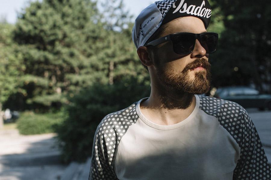 Isadore Apparel — cyklistická kšiltovka — čepice — černo-bílá — oblečení pro městskou cyklistiku — urban cycling apparel — cap