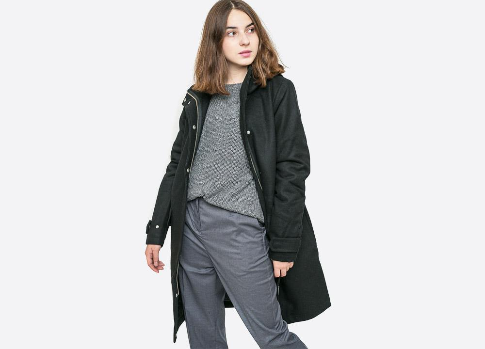 Wemoto — Sania — dámský zimní kabát s kapucí — černý — black winter women's hooded coat — podzim/zima 2017