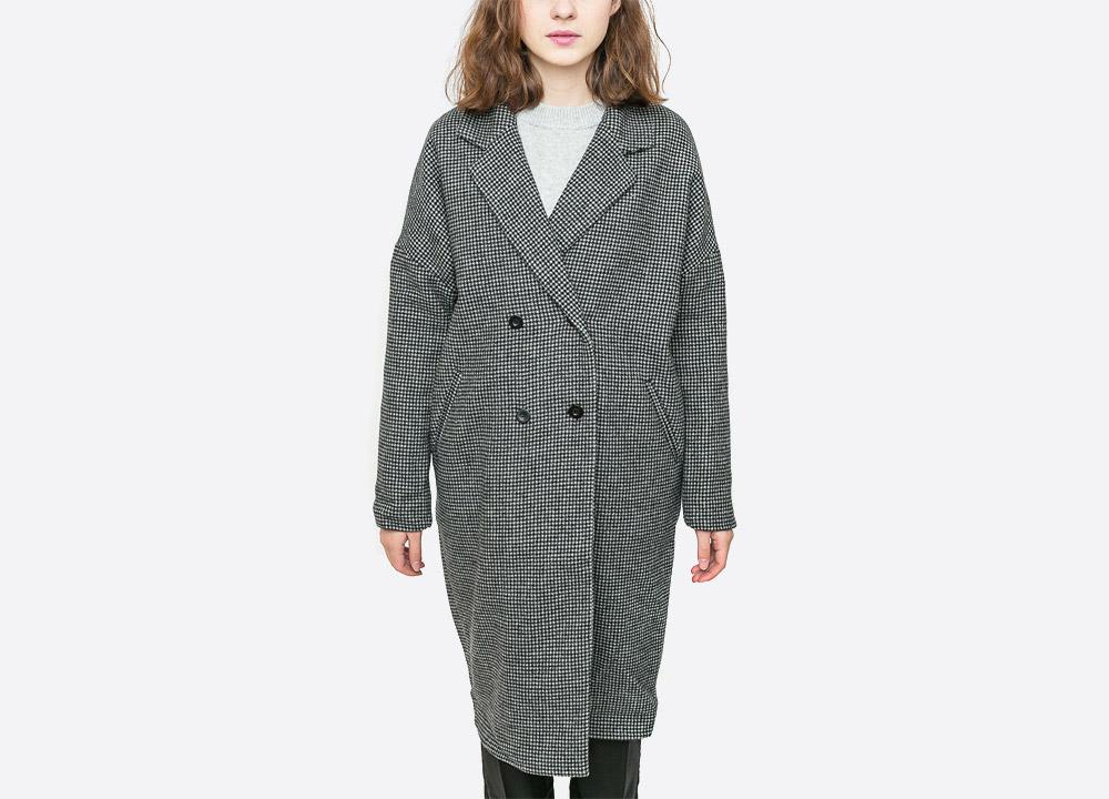 Wemoto — Nive — dámský podzimní/zimní kabát s kapucí — šedý (houndstooth) — grey fall/winter women's coat — podzim/zima 2017