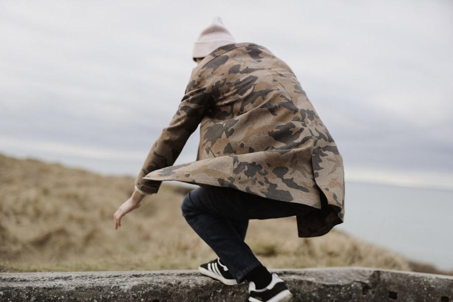 RVLT — pánský kabát — hnědý, zelený, maskáčový — podzimní/zimní — men's camo fall/winter coat — Revolution