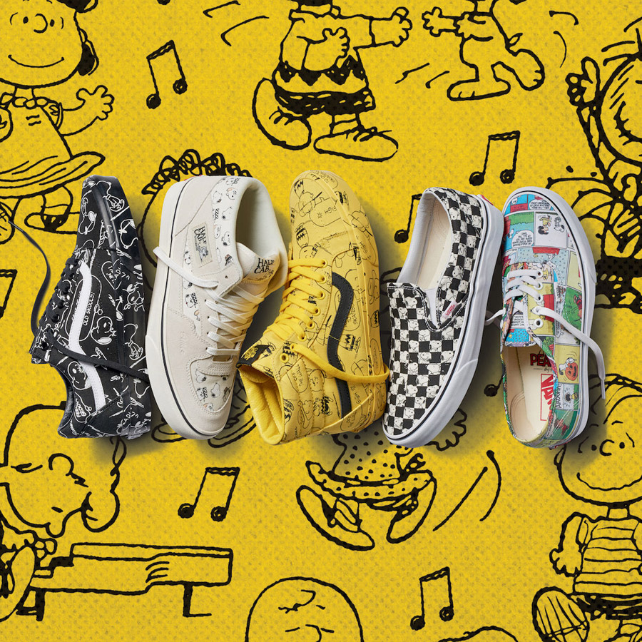 Vans x Peanuts — tenisky — Old Skool, Half Cab, SK8-Hi Reissue, Slip-On, Authentic — boty — sneakers