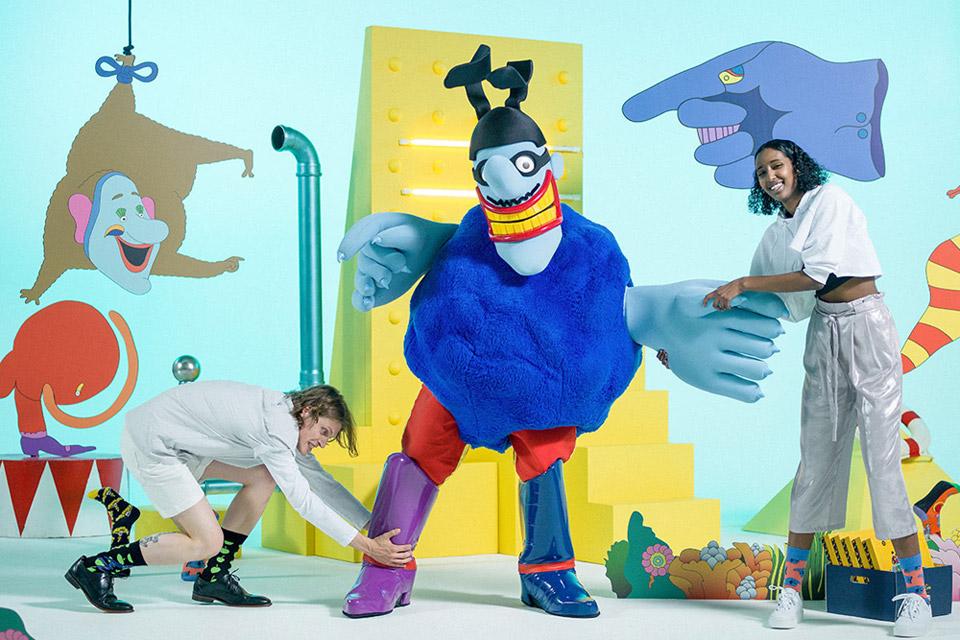 Happy Socks x The Beatles — vysoké veselé barevné ponožky — bavlněné — pánské, dámské — limitovaná edice