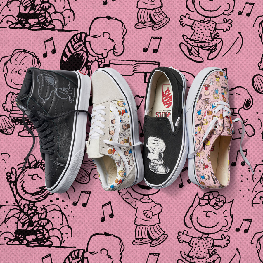 Vans x Peanuts — boty — SK8-Hi Reissue, Old Skool, Slip-On, Authentic — tenisky — sneakers