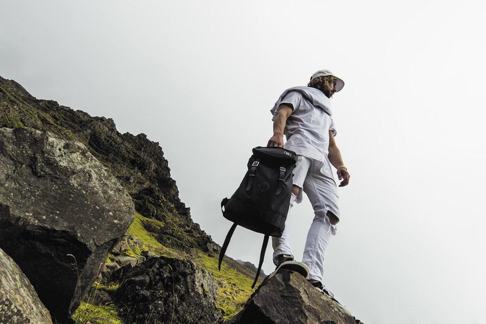 Pack Society — černý batoh — plátěný