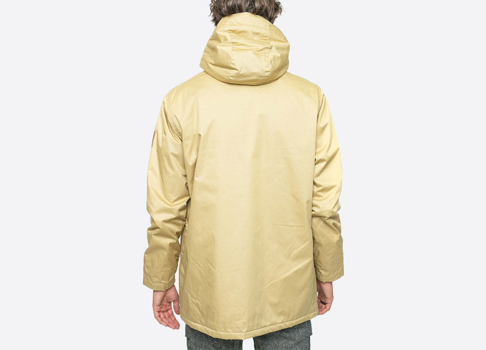 Makia — Field — pánská zimní bunda s kapucí — žlutá — yellow men's hooded winter jacket