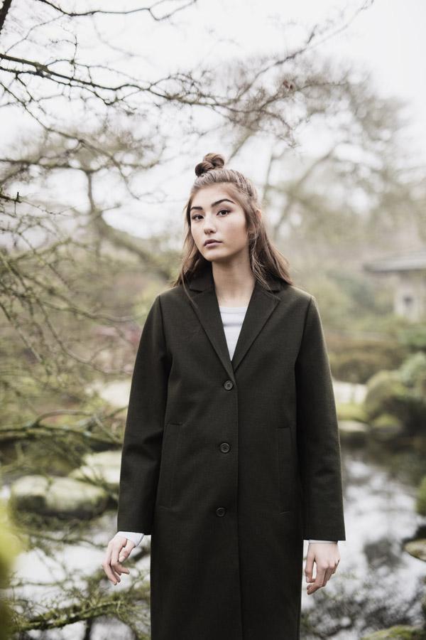 Selfhood — dámský kabát — černý — podzimní/zimní — women's black coat
