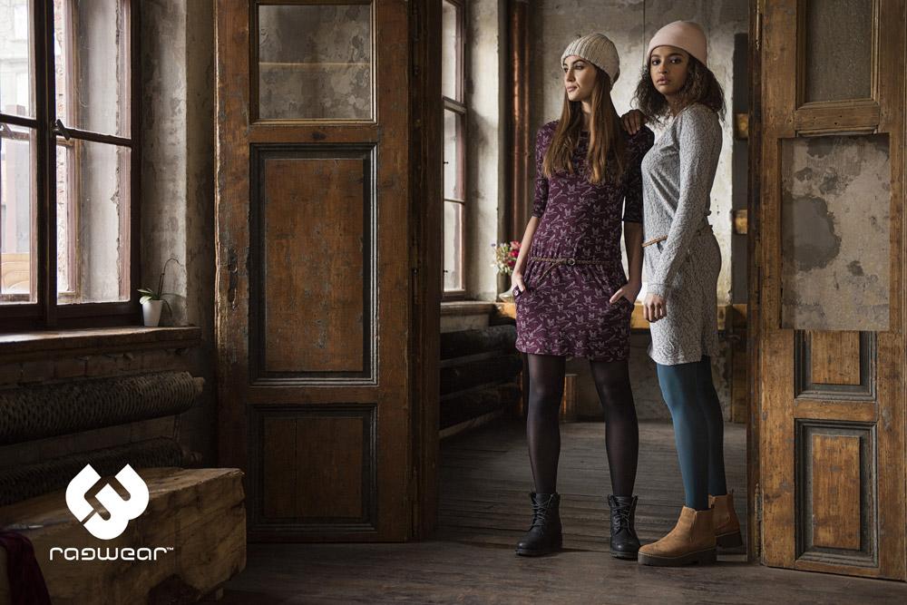 Ragwear — dámské šaty — vínové, šedé — women'winter dress — podzim/zima 2017