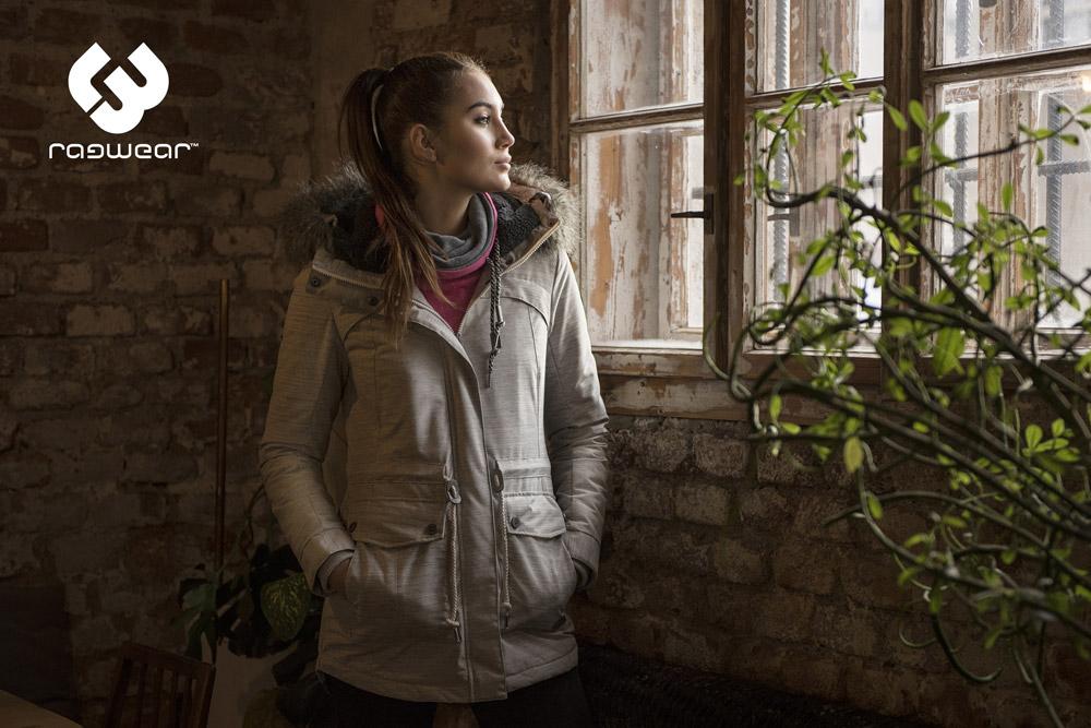 Ragwear — šedá zimní bunda s kapucí s kožíškem — dámská — women's winter jakcket — podzim/zima 2017