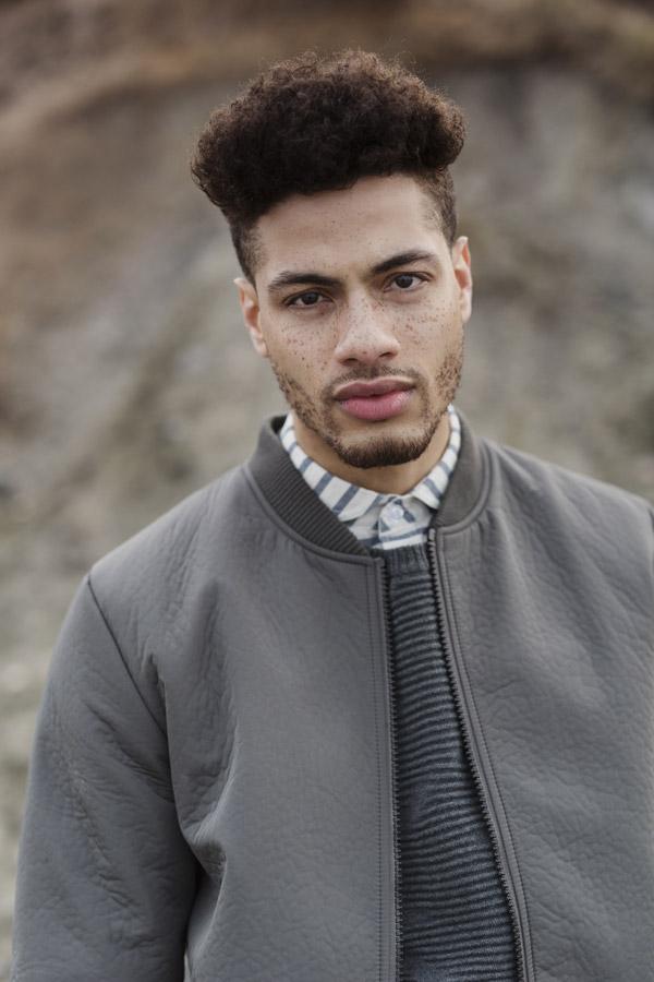 RVLT — pánská bunda — šedá — podzimní — men's fall grey bomber jacket — Revolution