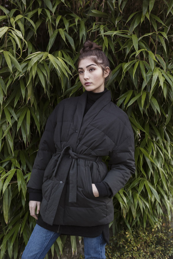 Selfhood — dámská prošívaná zimní bunda — černá — women's black quilted winter jacket