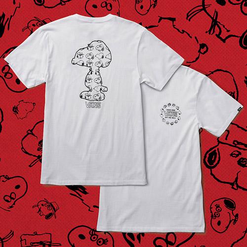Vans x Peanuts — bílé tričko — white tshirt — Snoopy