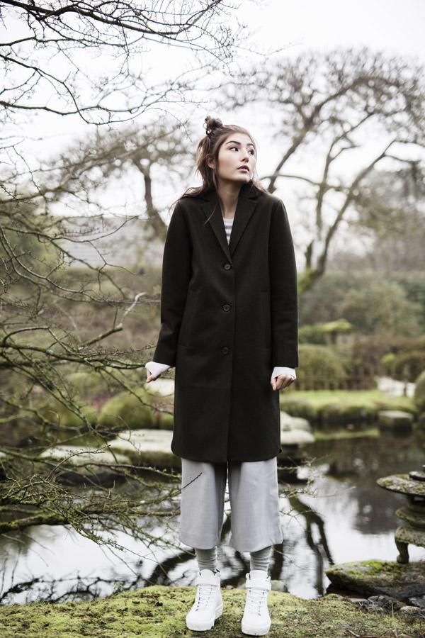 Selfhood — dámský kabát — černý — podzimní/zimní — women's black winter coat