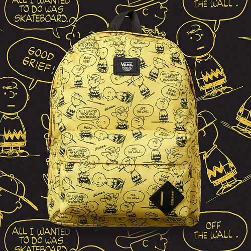 Vans x Peanuts — žlutý batoh — yellow backpack — Charlie Brown