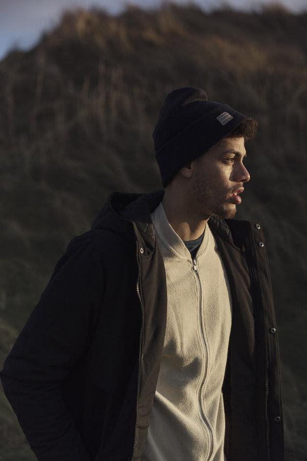 RVLT — pánská zimní bunda s kapucí — černá — men's black hooded winter jakcet — Revolution