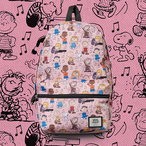 Vans x Peanuts — růžový batoh — yellow backpack