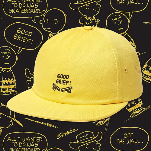Vans x Peanuts — žlutá kšiltovka — yellow 5 panel snapback