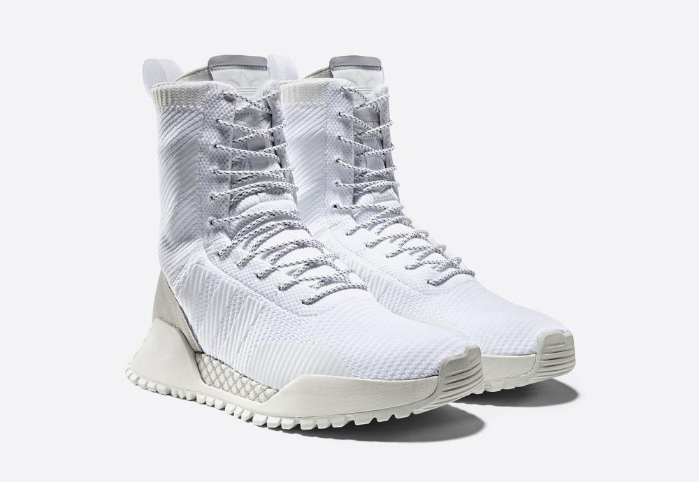 adidas Originals AF 1.3 PK — vysoké bílé zimní boty — kotníkové boty — voděodolné — Primeknit — white high men's and women's winter sneakers — Atric Pack