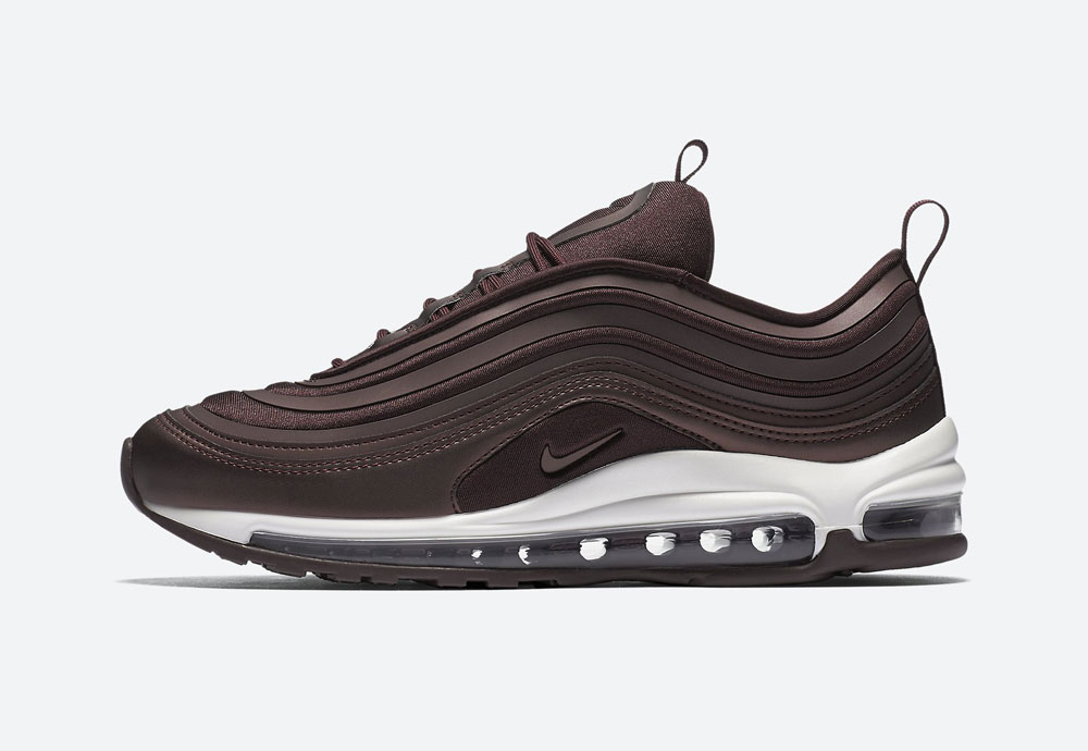 Nike Air Max 97 Ultra '17 Metallic — dámské boty — tenisky — metalické — mahagonové, tmavě hnědé — women's metallic field sneakers