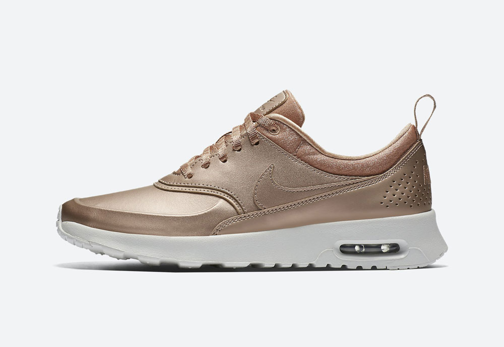 Nike Air Max Thea Premium Metallic — dámské boty — tenisky — metalické — bronzové — women's metallic red bronze sneakers