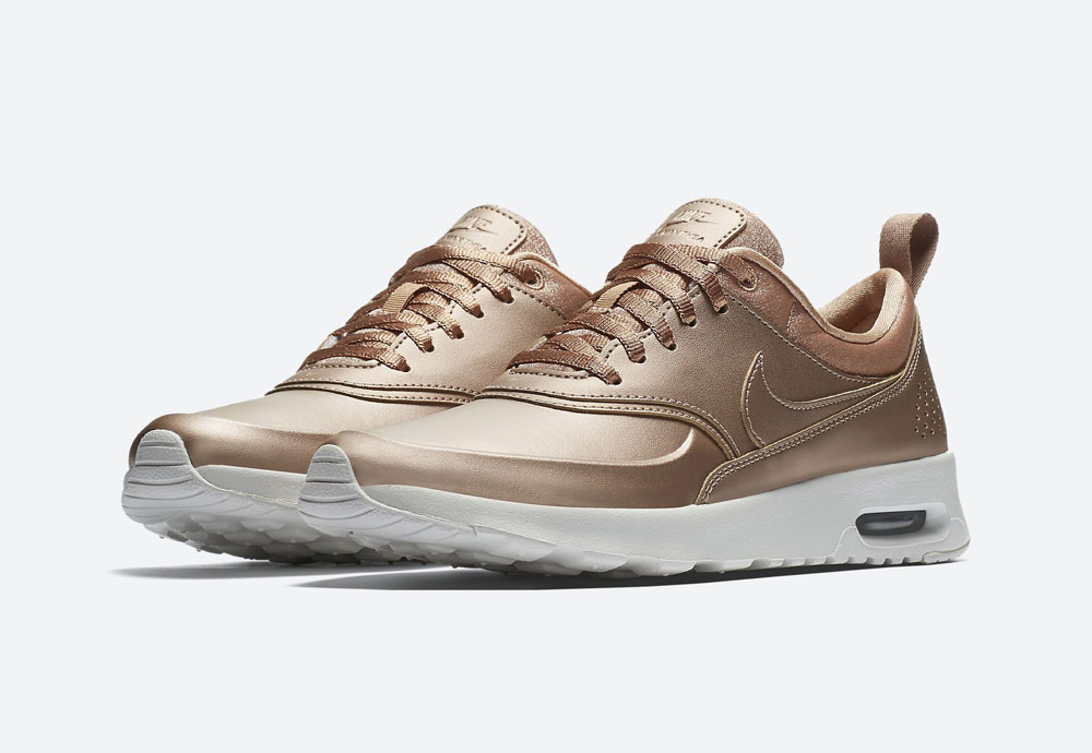 Nike Air Max Thea Premium Metallic — dámské tenisky — boty — metalické — bronzové — women's metallic red bronze sneakers