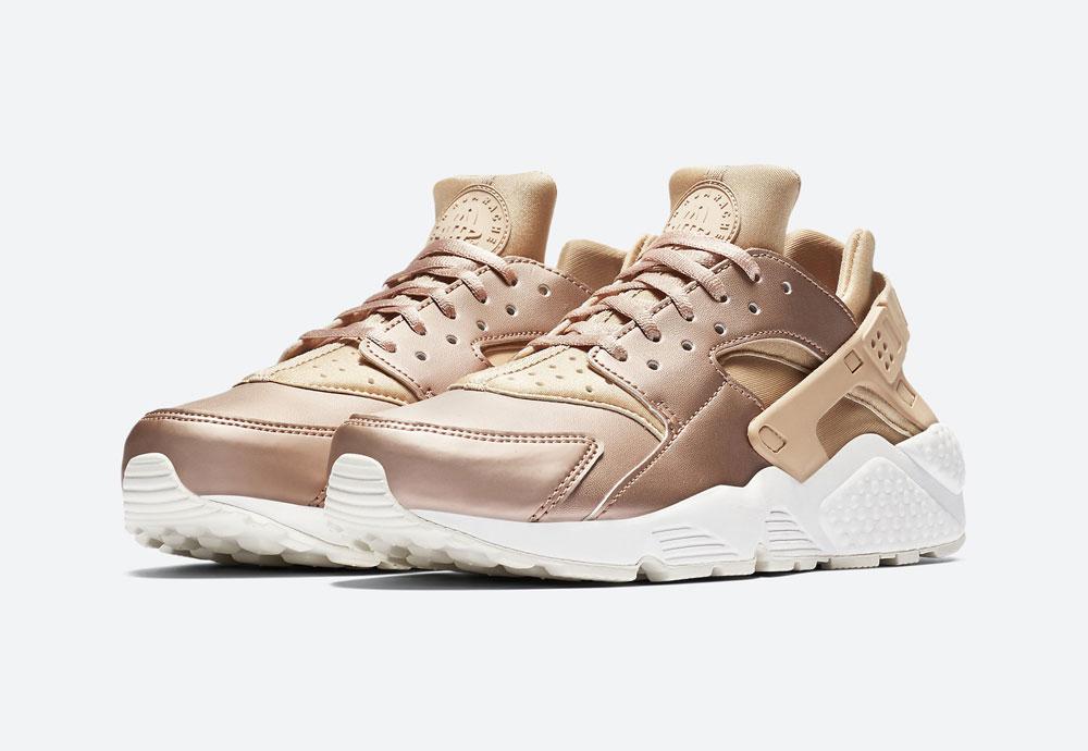 Nike Air Huarache Premium Metallic — dámské tenisky — boty — metalické — bronzové — women's metallic red bronze sneakers