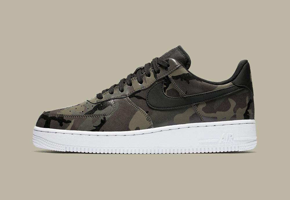 Nike Air Force 1 Low 07 LV8 Camo — maskáčové boty — tenisky — pánské — zelené — men's camo sneakers — green — shoes