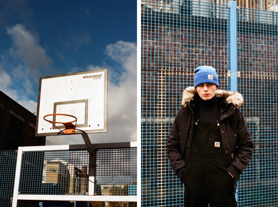 Carhartt WIP — hnědo-černá zimní parka — dlouhá bunda s kapucí s kožíškem — pánská — men's black/brown winter parka — jacket