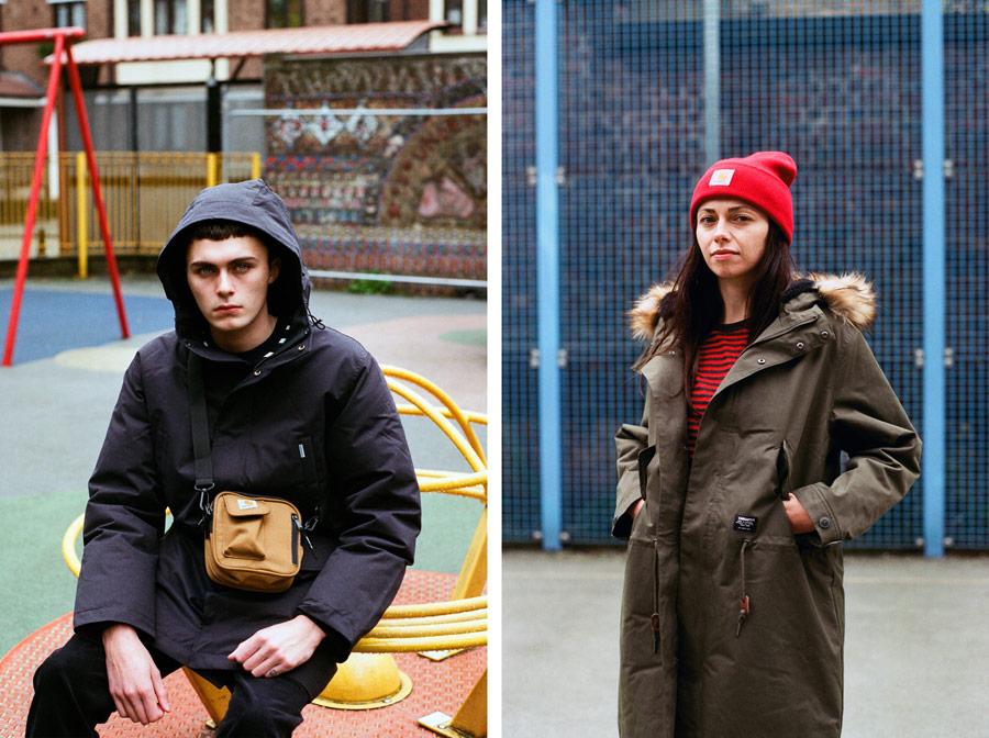 Carhartt WIP — parky — zimní bundy s kapucí — dámské — pánské — men's and women's winter parkas — jackets