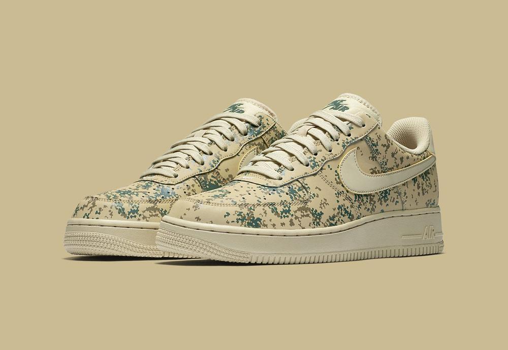 Nike Air Force 1 Low 07 LV8 Camo — maskáčové boty — tenisky — pánské — béžové zlaté — men's camo sneakers — beige, gold — shoes
