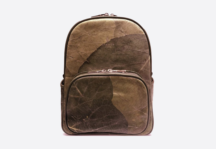 Thamon London — batohy z listů — veganské — vegan leaf backpacks — fashion