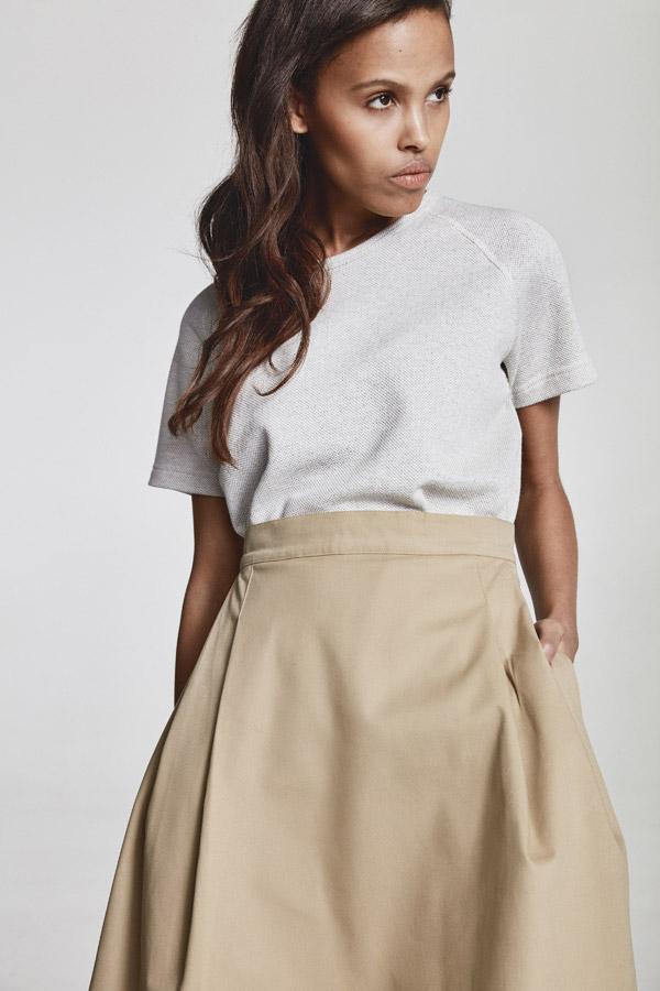 Makia — dlouhá béžová sukně — jaro 2018 — dámské oblečení