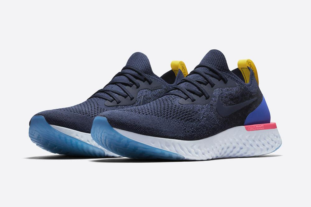 Nike Epic React Flyknit — modré boty — tenisky — sneakers