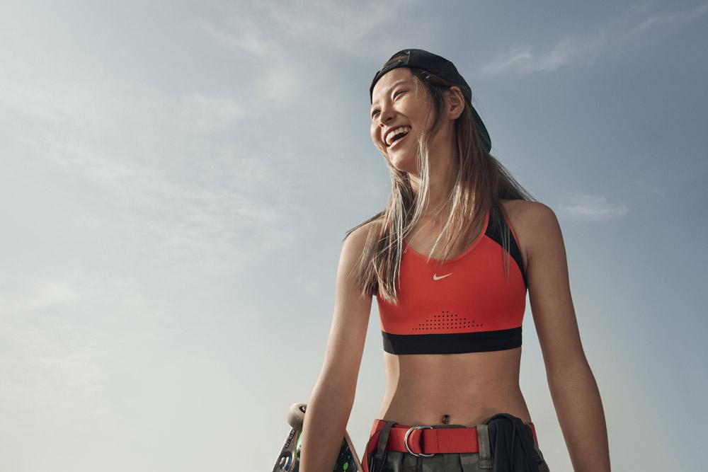 Nike — sportovní adaptivní podprsenka — oranžová — sports adaptive bra